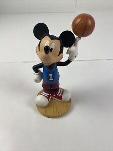 Vintage Walt Disney World Mickey Mouse Bobble Head Figurine - Basketball