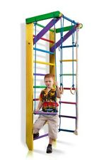 Swedish Ladder Wall bars Climbing Wall Fitness Sport Gymnastic Set for kids