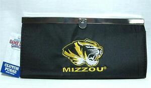 University Of Missouri Tigers Mizzou Ladies Clutch Purse Chain Fashion Wallet