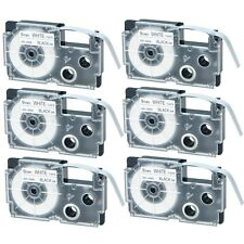 AU Stock 6x Compatible Casio XR-9WE Black on White Label Tape for EZ KL-780 3/8""