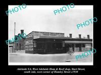 OLD HISTORIC PHOTO OF ADELAIDE SA, AMSCOL MILK & DAIRY Co SHOP, STURT St c1930