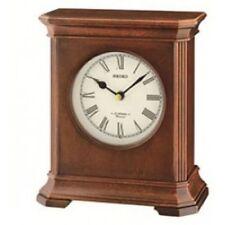 Wooden Antique Style Desk, Mantel & Carriage Clocks