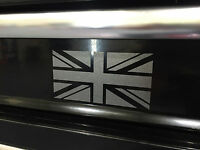 Etched Glass BRITISH FLAG UK UNION JACK MINI Lotus MG  Laptop Decal Sticker