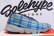 NIKE AIR FOOTSCAPE DESERT CHUKKA MIDNIGHT NAVY BLUE JADE SILVER 652822 400 8.5