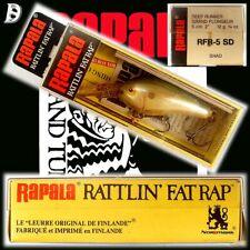 Vintage Rapala Rattlin Fat Rap 5cm SD Neu in Box Finnland wurde eingestellt