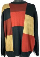 Protege Collection Mens 2XL Sweater Vintage Hip Hop Cosby Style Colorblock Used