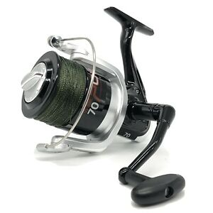 Vigor Power 70 Big Pit Spod And Marker Reel Loaded With 150yds Green 30lb Braid