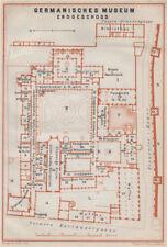GERMANISCHES NATIONALMUSEUM, NÜRNBERG Nuremberg. Ground floor plan 1910 map