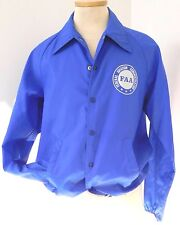 VINTAGE FAA FEDERAL AVIATION ADMINISTRATION BLUE WINDBREAKER JACKET WHITE LOGO
