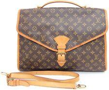 Auth LOUIS VUITTON Monogram Beverly GM Briefcase Document Bag France w/strap