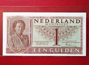 1945 NETHERLAND 1 GULDEN @ XF/AU