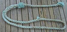 AWESOME AQUA BLUE NAUTICAL ROPE!! BEACH FIND! WOW!! YARD DECOR!