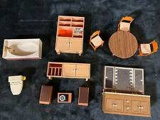 Lot of TOMY Smaller Home Dollhouse Doll House Furniture Accessories