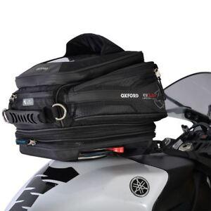 Oxford Q15R Motorcycle Bike Tank Bag Expandable Luggage OL216 15L BLACK