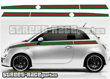 Fiat 500 side racing stripes 033 Gucci style decals vinyl graphics stickers