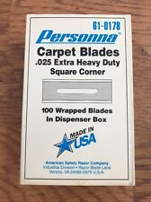 Personna Heavy Duty Square Carpet Knife Blades .025 Thick, 100 Per Box