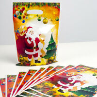 Fj- 10Pcs / Set PVC Natale Monouso Borsette Regalo Caramelle Conservazione
