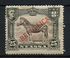 Nyassa Company 1921 SG#57, 25c Common Zebra Optd MH P14 #A68131