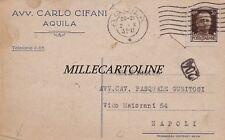 AQUILA- testatina Avv. Carlo Cifani   1933