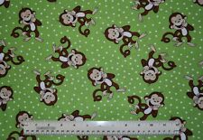 1/2 yard cotton quilt fabric Laughing Monkeys animals jungle simians quilting