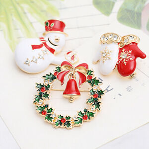 Christmas Brooch Jewelry Accessories Santa Claus Noel 2021 Xmas Gift Decorations