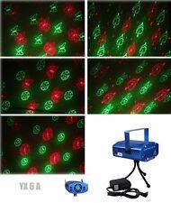 6 in 1 LED Laser Bühnenlicht Disco Party Lichteffekt Lampe Projektor Licht GX6A