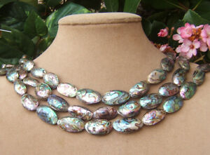 Aimee Fuller Abalone Sea Opals Necklace Pearl Wedding Bridal Statement Jewelry