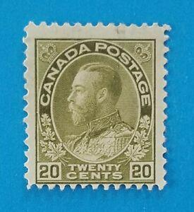 Canada stamp Scott #119 MLH good original gum. Bright olive colors, good perfs.