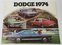 1974 DODGE LINEUP CAR ADVERTISING CAR DEALERSHIP BROCHURE VINTAGE CHARGER DART