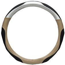 Car Steering Wheel Cover Glove Black Beige Grey Silver Soft Grip Ergo Carbon