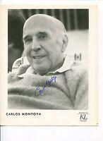 Carlos Montoya Famous Flamenco Guitarist Signed Autograph Photo