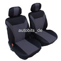 2x Sitzbezug Sitzbezüge Schonbezüge Grau Schwarz Polyester Neu OVP für