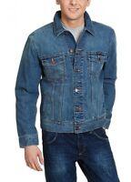 New Wrangler Mens Authentic Denim Trucker Jacket Vintage Mid Blue M L XL XXL 3XL