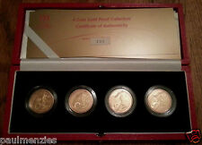 2002 Royal Mint XVII Commonwealth Games £ 2 Dos Libra Oro Proof 4 Monedas Set