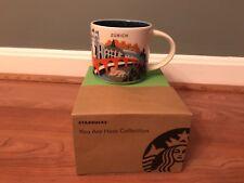 Starbucks Zurich Switzerland YAH Mug Coffee Cup Alps Lion New