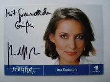 Original Autogramm In aller Freundschaft - Ina Rudolph - Hinter Gittern rar !!
