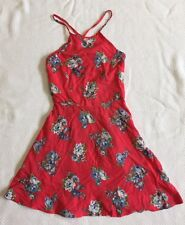*NWT* Abercrombie Kids Red Floral Print Dress With Spaghetti Straps Sz M