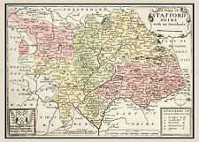 MAP 17TH CENTURY HOLLAR STAFFORDSHIRE ENGLAND REPLICA POSTER PRINT PAM0252