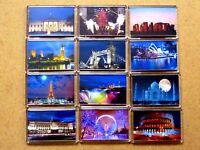FAMOUS LANDMARKS AT NIGHT FRIDGE MAGNETS/FRAMES. GREAT GIFTS/MEMORIES. FREE P&P