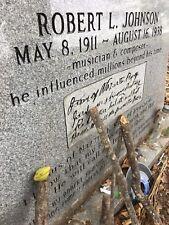 Pecan Wood Robert Johnson 's Grave Greenwood Mississippi Authentic Guitar Blues