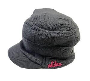 Adidas Gray Knit Hat w/ Bill Women's One Size