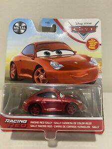 2021 DISNEY PIXAR CARS - RACING RED SALLY - PORSCHE - CHASE - METAL - NEW - RARE