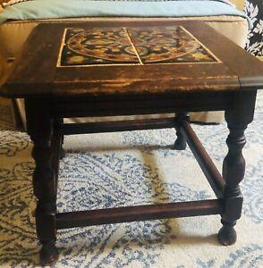 Monterey Circa 1920's Tile Top Side Table Vintage/Antique