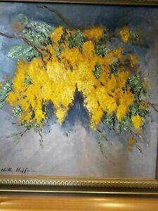 Noelle Hoffman Wattle Howe Island Oil Painting, 1993 Original