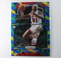 2019 DENNIS RODMAN #3 Panini Prizm Prizms Choice Blue Yellow & Green 🔥 BULLS