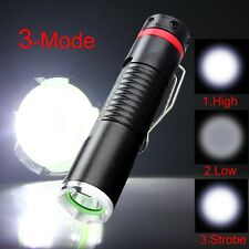Mini Cree R2 LED 600 Lumen Aluminum Alloy Flashlight Torch Light Lamp AA 3 Modes