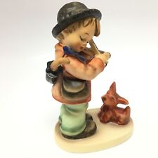 "Hummel Figurine ""Puppy Love"" #1 Goebel TMK6 Boy Violin Dog"