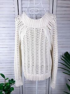 J Crew White Jumper, Pullover, Top, Knit, Size S, 6-8