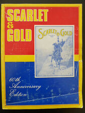 Scarlet & Gold Royal Canadian Mounted Police RCMP Magazine 60th Anniversary VTG