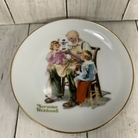 Norman Rockwell Plate The Toy Maker 1984 Made In Japan Collectible Wall Decor